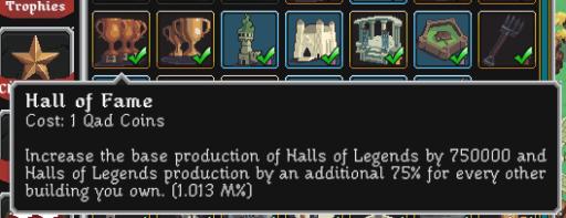 hall of fame upgrade
