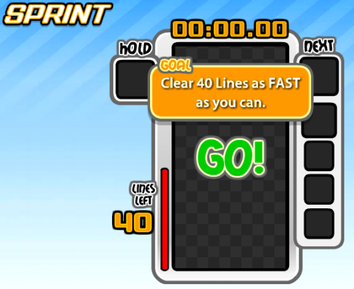 sprint mode clear 40 lines as fast as you can