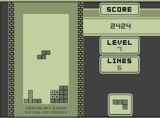 tetris 1989 old school tetris game mode