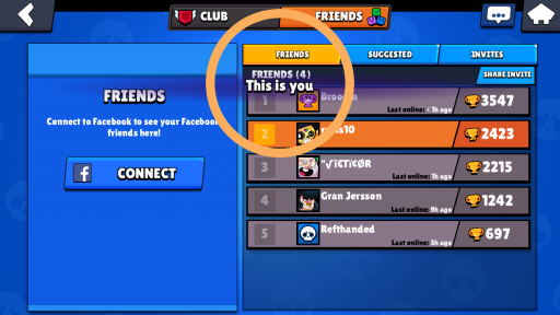 seeing profile page from friends list