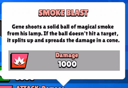 smoke blast main attack for gene