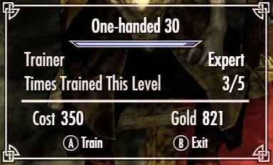 skyrim follower training to get your money back for free skills