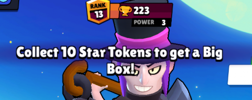 get star tokens to open a big box