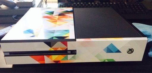 custom xbox one with vinyl decals