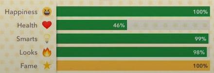 bitlife fame percentage bar
