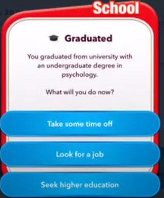 bitlife pilot higher education