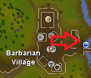 barbarian village cooking training location