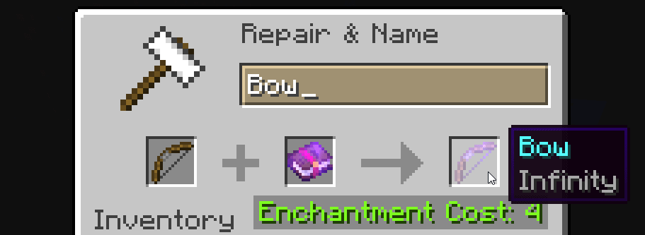 infinity bow enchantment